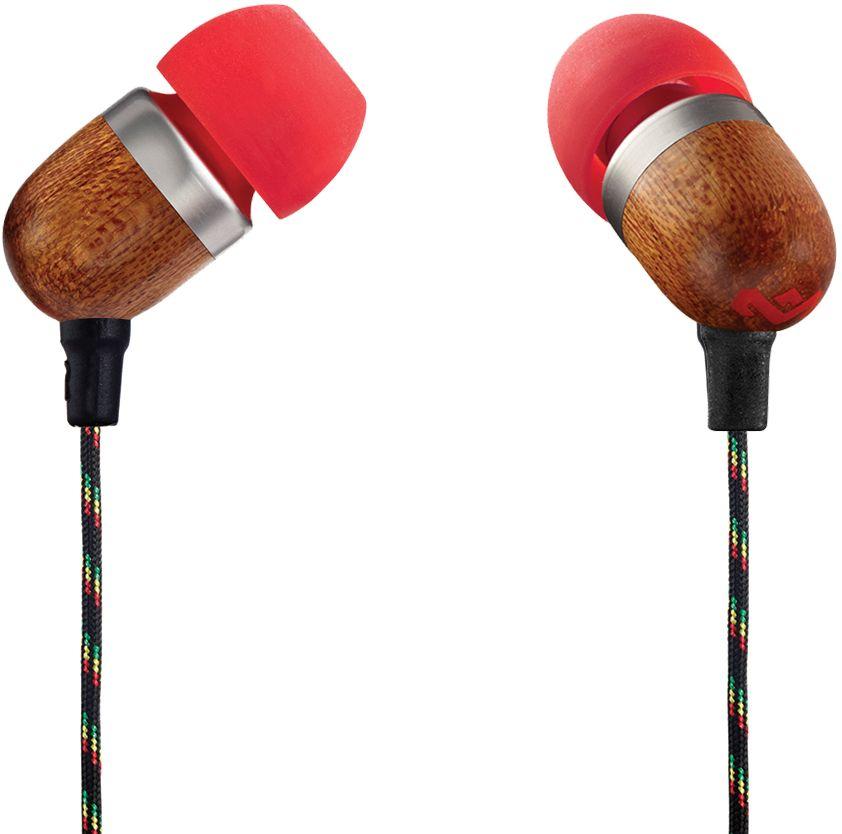 House of Marley Smile Jamaica Fire наушникиEM-JE041-FIУдобные наушники House of Marley Smile Jamaica с легким дизайном изготовлены из экологически чистых материалов. Корпус наушников выполнен из бамбука с алюминиевой вставкой. Мощные 9-мм драйверы позволяют насладиться полноценным живым звучанием с отличной шумоизоляцией.Тканевая оплетка повышает надежность кабеля, помогает избежать спутывания и снижает микрофонный шум. Для любителей слушать музыку со смартфона кабель оснащен однокнопочным пультом, благодаря которому устройство не нужно доставать из кармана, чтобы поставить на паузу или ответить на звонок.