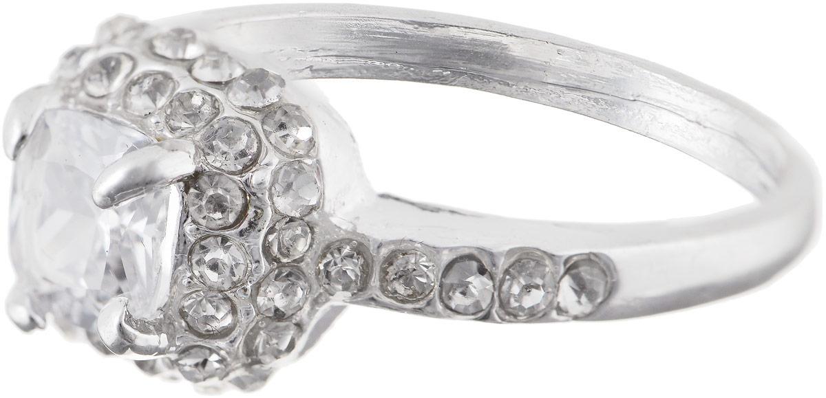 Кольцо Bradex Бриллиантовый соблазн, цвет: серебряный. AS 0035Коктейльное кольцоКольцо Bradex Бриллиантовый соблазн выполнено из металлического сплава и дополнено декоративным элементом, оформленным вставками из искусственного камня и страз.