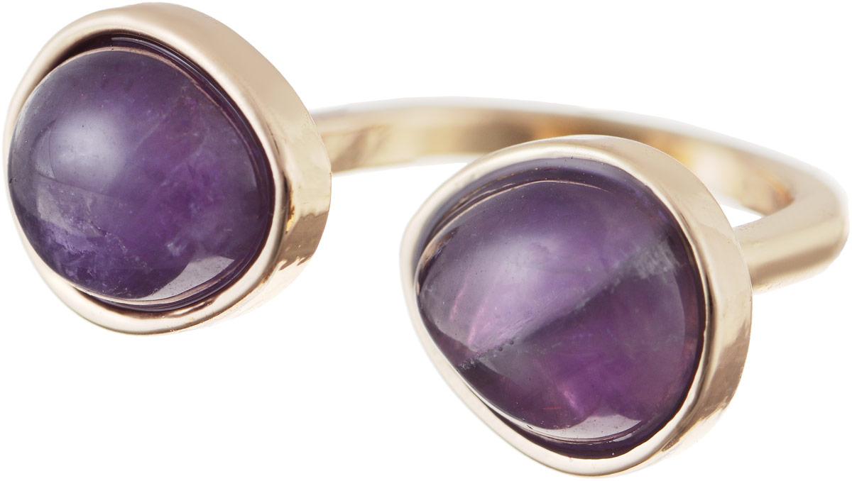 Кольцо Bradex Аметист, цвет: золотой, фиолетовый. AS 0032Коктейльное кольцоКольцо Bradex Аметист изготовлено из металлического сплава и выполнено в оригинальном дизайне. Изделие оформлено вставками из аметиста.