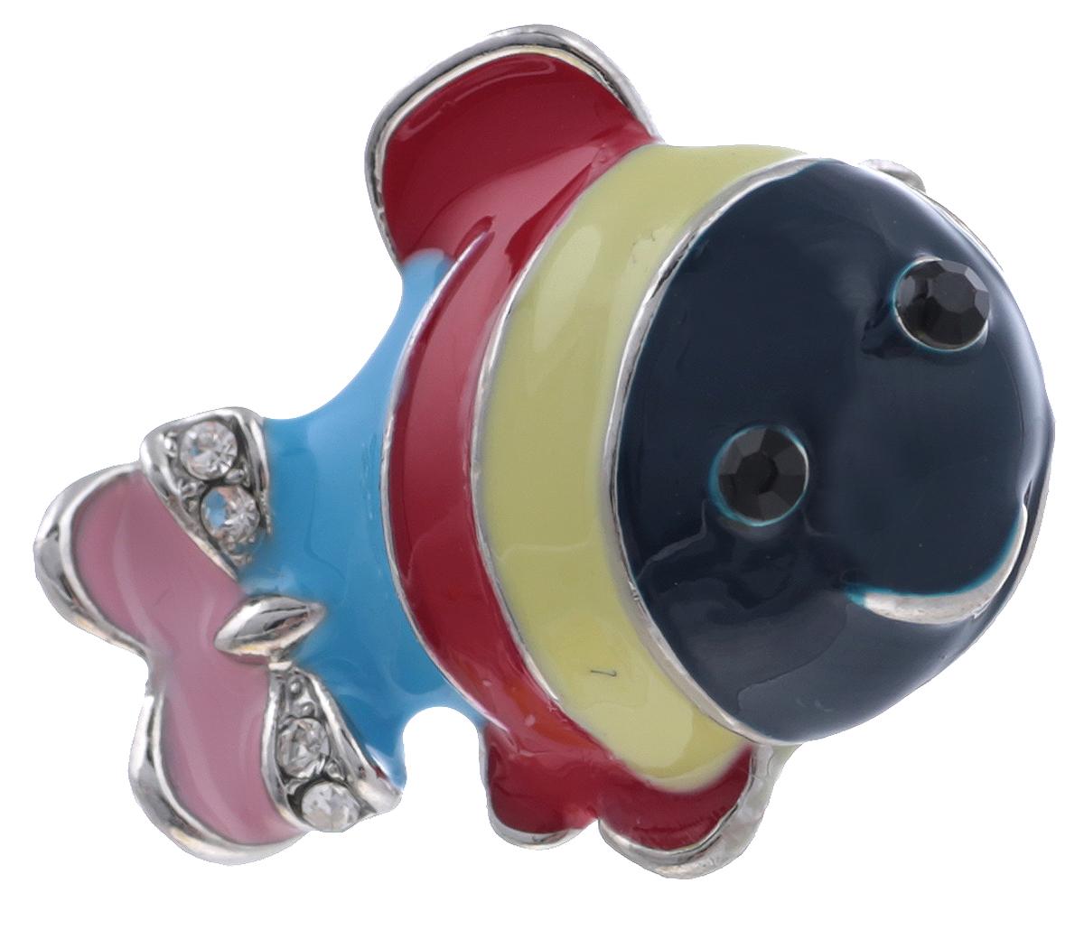 Брошь Рыбка от Arrina. Цветные эмали, прозрачные стразы, бижутерный сплав серебряного тона. ГонконгБрошь-булавкаБрошь Рыбка от Arrina. Цветные эмали, прозрачные стразы, бижутерный сплав серебряного тона.Гонконг.Размер: 2,5 х 1,5 см.Тип крепления - булавка с застежкой.
