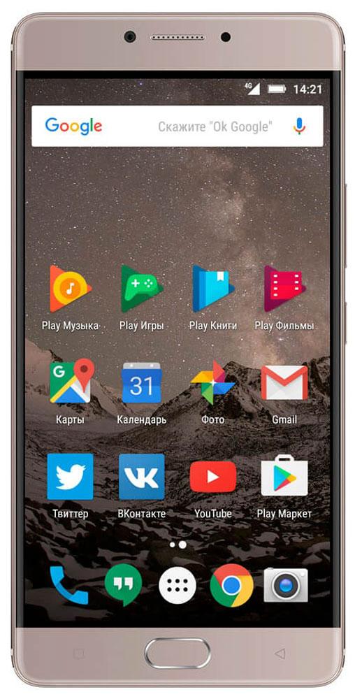 Highscreen Power Five Max, Copper23535Highscreen Power Five Max - смартфон, который обладает внушительной батареей на 5000 мАч и тонким эргономичным корпусом, изготовленным из прочнейшего алюминия 6000 серии. За счет своих небольших габаритов и веса, смартфон идеально лежит в руке, а механическая кнопка с сенсором отпечатков пальца поможет защитить персональные данные.В Power Five Max установлен 5.5'' Super AMOLED - экран, который охватывает 100% цветовой гаммы NTSC. Изображение выглядит просто потрясающе, настоящий черный и яркие насыщенные красками цвета не оставят тебя равнодушными.Мощный восьмиядерный процессор MediaTek Helio P10 способен обрабатывать огромное число операций в секунду, его по праву называют лучшим процессором по соотношению экономичности и производительности. Кроме мощного процессора Power Five Max обладает 4 ГБ оперативной памяти LPDDR 3 и 64 ГБ внутренней памяти.13 Мпикс камера моментально фокусируется и позволяет запечатлеть даже объекты в движении, а разнообразие настроек поможет вам добиться удивительных результатов.Power Five Max оснащен ИК-портом и специальным приложением, при помощи которого вы сможете управлять домашней техникой.Благодаря емкой батарее вы можете слушать музыку на протяжении 17 часов, 11 часов смотреть HD-видео или разговаривать до 25 часов.Телефон сертифицирован EAC и имеет русифицированный интерфейс меню и Руководство пользователя на русском языке.