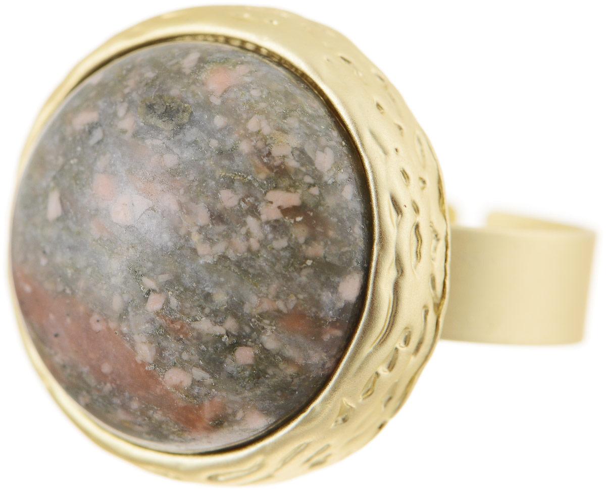 Кольцо Bradex Императрица, цвет: золотой, хаки. AS 0037Коктейльное кольцоКольцо Bradex Императрица изготовлено из металлического сплава. Декоративный элемент выполненв круглой форме и оформлен вставкой из оникса. Размер кольца регулируется.