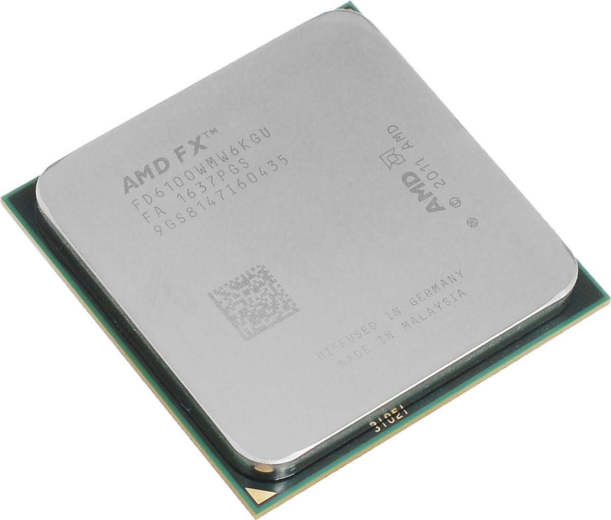 AMD FX-6100 процессор (FD6100WMW6KGU)FD6100WMW6KGUПроцессор AMD FX-6100 подойдет для настольных персональных компьютеров, основанных на платформе AMD. Данная модель имеет разблокированный множитель, а также встроенный двухканальный контроллер памяти DDR3.Процессор поддерживает все основные технологии AMD: AMD64Enhanced Virus Protection,HyperTransport,PowerNow! / CoolnQuiet,Turbo Core 3.0,Virtualization