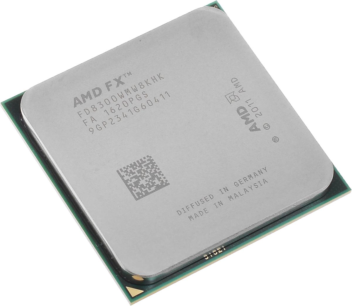 AMD FX-8300 процессор (FD8300WMW8KHK)FD8300WMW8KHKПроцессор AMD FX-8300 подойдет для настольных персональных компьютеров, основанных на платформе AMD. Данная модель имеет разблокированный множитель, а также встроенный двухканальный контроллер памяти DDR3.Процессор поддерживает все основные технологии AMD: AMD64Enhanced Virus Protection,HyperTransport,PowerNow! / CoolnQuiet,Turbo Core 3.0,Virtualization