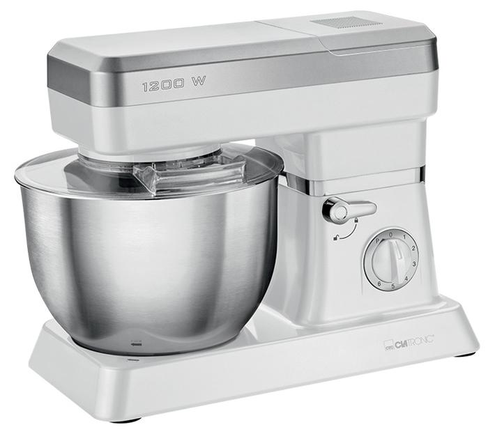 Clatronic KM 3636, White кухонный комбайнKM 3636 weissКухонный комбайн Clatronic KM 3636 станет прекрасным помощником для любой хозяйки. С ним вы сможете готовить невероятно вкусные и аппетитные блюда, при этом сократив время их приготовления. Основным назначением прибора является изготовление различных видов теста и кремов. Кухонный комбайн качественно и быстро перемешивает различные ингредиенты, что дает возможность избежать комочков.Clatronic KM 3636 снабжен 6,3 л чашей из нержавеющей стали для 3-3,5 кг теста и 1,5 л стеклянной чашей блендера. 6 скоростей замешивания и импульсный режим обеспечат наилучший результат.Поворотный рукав на 35°Быстрозажимной патронЛегко разбирается для мытья и чисткиНескользящие ножки на присосках