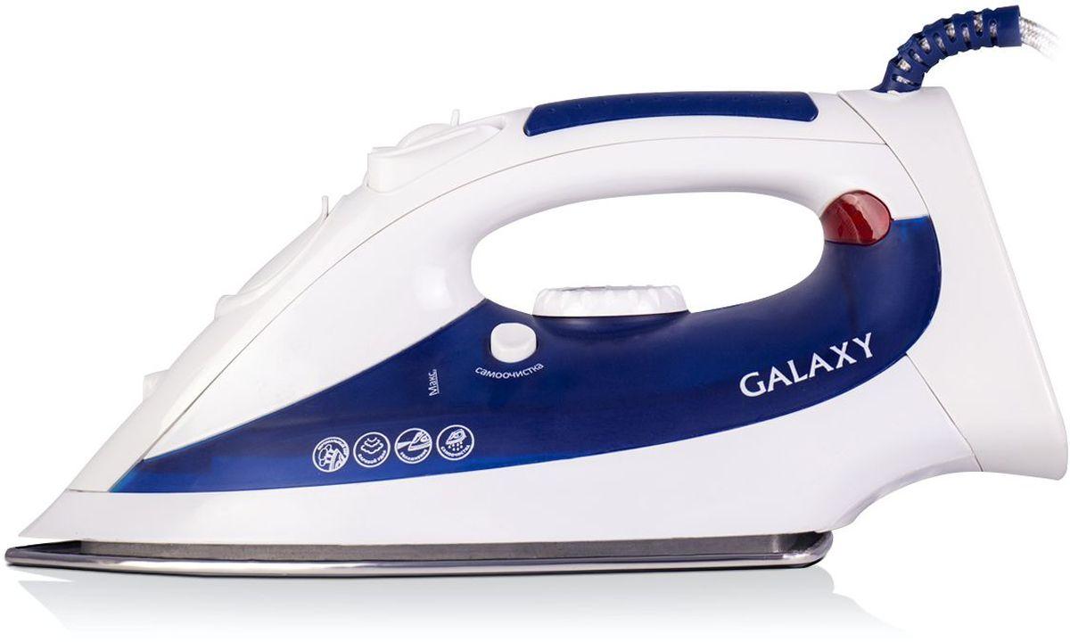 Galaxy GL 6102 утюг4630003364548Модель Galaxy GL 6102 придется по душе тем, кто ценит удобство и качество, но не хочет переплачивать за лишние функции. В утюге GL6102 есть все необходимые функции для эффективной глажки белья: вертикальное отпаривание, паровой удар, функции увлажнения и самоочистки, которые безупречно работают, благодаря необходимой для этого мощности 2000 Вт.Силиконовый уплотнитель крышки резервуараУказатель максимального уровня водыИндикатор нагрева