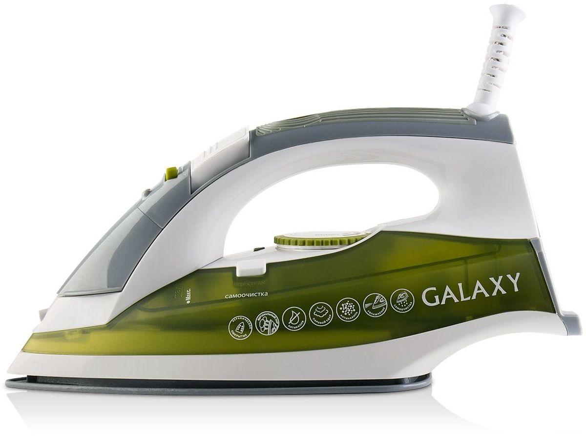 Galaxy GL 6109 утюг4630003365071Утюг Galaxy GL 6109 - идеальный выбор для людей, которые ценят свое время и предпочитают делать домашние дела легко и непринужденно! Благодаря керамическому покрытию подошвы, утюг идеально скользит по ткании без труда разглаживает даже самые сложные складки. Вместительный резервуар для воды объемом 300 мл обеспечивает долгую непрерывную работу с паром! Крышка резервуара снабжена надежным силиконовым уплотнителем, который предотвращает расплескивание воды в процессе глажения. Данная модель имеет массу дополнительных функций, обеспечивающих абсолютный комфорт при работе с утюгом и продлевающих срок его службы - антикапля, антинакипь, вертикальное отпаривание, паровой удар, функция увлажнения, система защиты от перегрева.