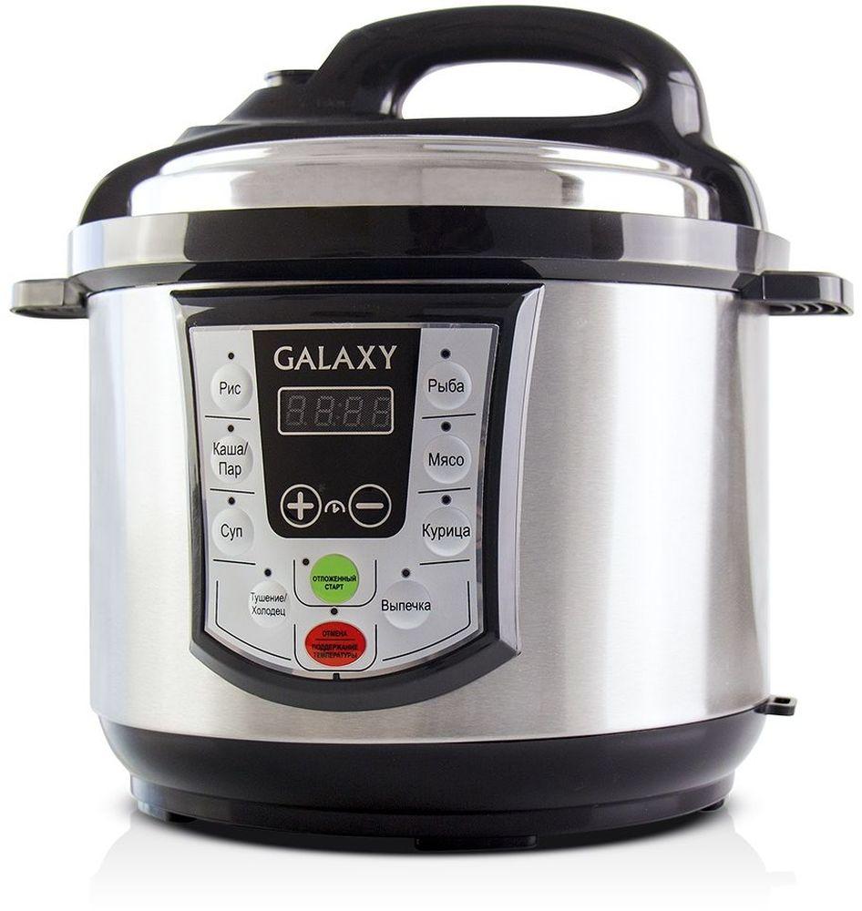 Galaxy GL 2651 мультиварка-скороварка4630003366658Простота, удобство в обращении и одновременная многофункциональность мультиварки-скороварки Galaxy GL 2651 позволят вам наслаждаться процессом приготовления пищи, не затрачивая много времени и сил!Мультиварка-скороварка Galaxy GL 2651 готовит под давлением, что значительно сокращает время приготовления и максимально сохраняет натуральный вкус, цвет и полезные свойства продуктов. Емкость для приготовления на пару выполнена из прочной нержавеющей стали, которая не выделяет в пищу вредных химических соединений и не деформируется под воздействием давления.