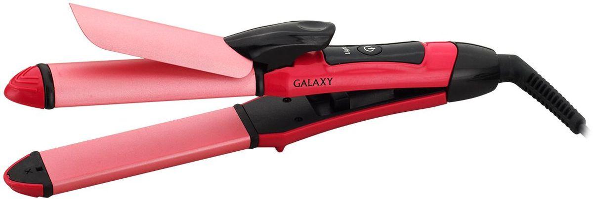 Galaxy GL 4610 выпрямитель для завивки волос4630003367280С помощью щипцов-плоек Galaxy GL 4610 можно и выпрямлять, и завивать волосы, используя всего один прибор! Керамическое покрытие рабочих поверхностей делает волосы более гладкими и блестящими и защищает от пересушивания. Функция защиты от перегрева обеспечивает максимальную безопасность волос.