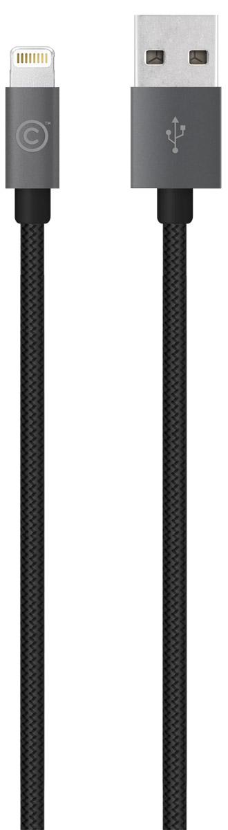 LAB.C Lightning Cable A.L Apple 8 Pin, Space Grey кабель USB-Lightning (1,2 м)LABC-505-GY_NКабель LAB.C Lightning Cable A.L Apple 8 Pin предназначен для зарядки и синхронизации устройств с коннектором Lightning. Оплетка выполнена из инновационной износостойкой ткани с плотным плетением нейлоновых нитей, благодаря которому продолжительность использования кабеля возрастает в 5 раз, в сравнении с другими проводами. Наличие специальной пропитки оплетки увеличивает прочность провода и защищает его от перекручивания. Коннекторы выполнены из алюминия премиального качества и отличаются высокой скоростью передачи данных.