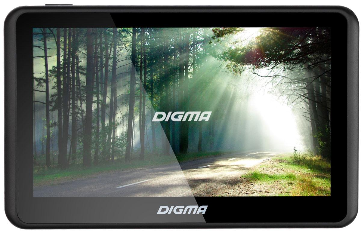 Digma Alldrive 501, Black GPS навигаторALLDRIVE 501GPS навигатор Digma Alldrive 501 - это устройство, созданное для облегчения жизни автомобилистов и путешественников. Оснащенный программным обеспечением Navitel, девайс поможет вам всегда получать только актуальную и детализированную информацию о вашем местонахождении и без проблем добраться до места назначения. Голосовое оповещение предназначено для того, чтобы водитель был сконцентрирован только на дороге. Устройство имеет цветной 5 сенсорный дисплей с разрешением 480х272 пикселей. Работающий на базе операционной системы Windows CE 6.0, GPS навигатор Digma Alldrive 501 располагает большими мультимедийными возможностями. Быструю работу устройства обеспечивает процессор Mstar MSB2531, имеющий частоту 800 МГц, и оперативная память 128 МБ. Наличие собственной памяти 4 ГБ и возможность установить флеш-накопитель microSD до 32 ГБ позволяет помимо навигационных карт наполнить устройство медиафайлами. Аккумулятор емкостью 950 мА/ч позволяет навигатору работать до 2 часов автономного режима.