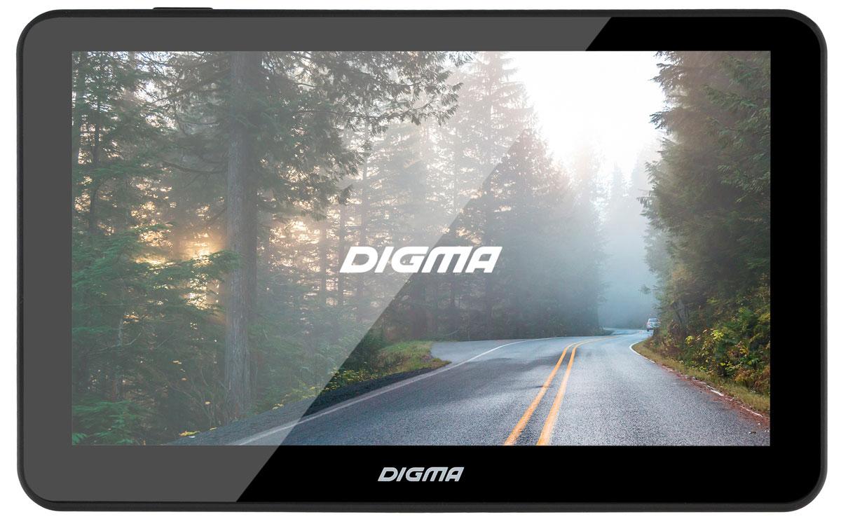 Digma Alldrive 701, Black GPS навигаторALLDRIVE 701GPS навигатор Digma Alldrive 701 - это устройство, созданное для облегчения жизни автомобилистов и путешественников. Оснащенный программным обеспечением Navitel, девайс поможет вам всегда получать только актуальную и детализированную информацию о вашем местонахождении и без проблем добраться до места назначения. Голосовое оповещение предназначено для того, чтобы водитель был сконцентрирован только на дороге. Устройство имеет цветной 7 сенсорный дисплей с разрешением 800х480 пикселей. Работающий на базе операционной системы Windows CE 6.0, GPS навигатор Digma Alldrive 701 располагает большими мультимедийными возможностями. Быструю работу устройства обеспечивает процессор Mstar MSB2531, имеющий частоту 800 МГц, и оперативная память 128 МБ. Наличие собственной памяти 4 ГБ и возможность установить флеш-накопитель microSD до 32 ГБ позволяет помимо навигационных карт наполнить устройство медиафайлами. Аккумулятор емкостью 850 мА/ч позволяет навигатору дольше работать в автономном режиме.