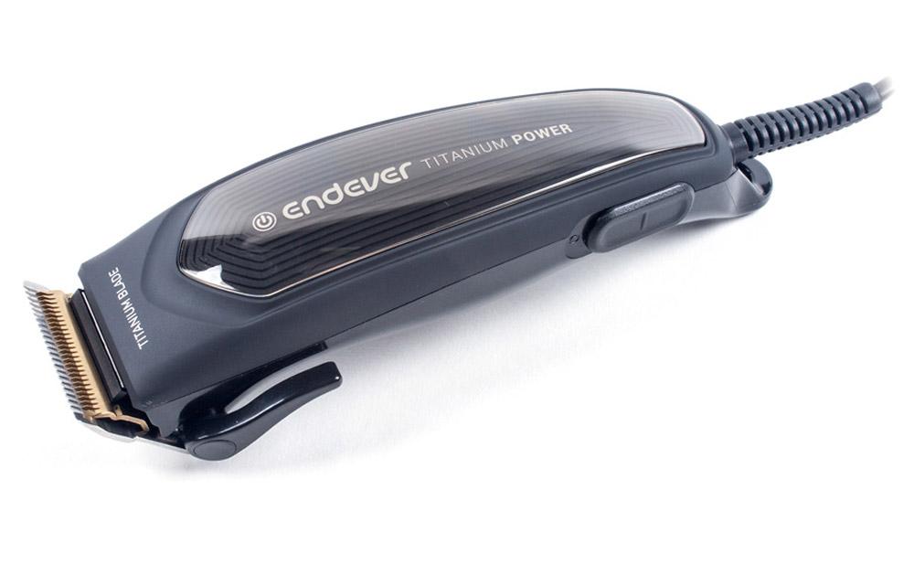 Endever Sven-970 машинка для стрижки волосSven 970Машинка для стрижки Endever Sven-970 выполнена в стильном и лаконичном корпусе, оснащена мощным мотором типа AC, а также технологией TITANIUM BLADE, благодаря которой лезвия никогда не затупятся и обеспечат высокую эффективность стрижки и бережный уход.