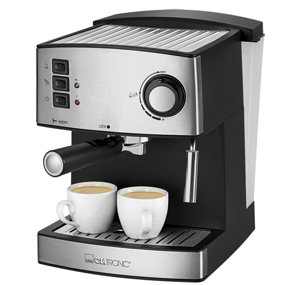 Clatronic ES 3643, Black Inox кофемашина