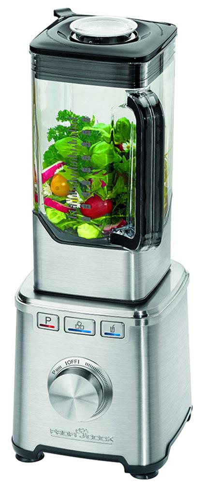 Profi Cook PC-SM 1103 блендерPC-SM 1103Профессиональный блендер Profi Cook PC-SM 1103 позволит сделать ваш повседневный рацион питания более разнообразным. Данная техника рассчитана на измельчение разных видов продуктов. При помощи него вы без труда измельчите овощи, смешаете любые ингредиенты, приготовите коктейли и соки, взобьете кремы и многое другое. При своей высокой функциональности блендер не занимает много места на кухонном столе. Он весьма компактен, а наличие нескольких режимов работы позволит без труда получить желаемый результат при измельчении продуктов.Съёмный нож с 6 лезвиями из нержавеющей сталиМаксимальная скорость 32000 об/мин