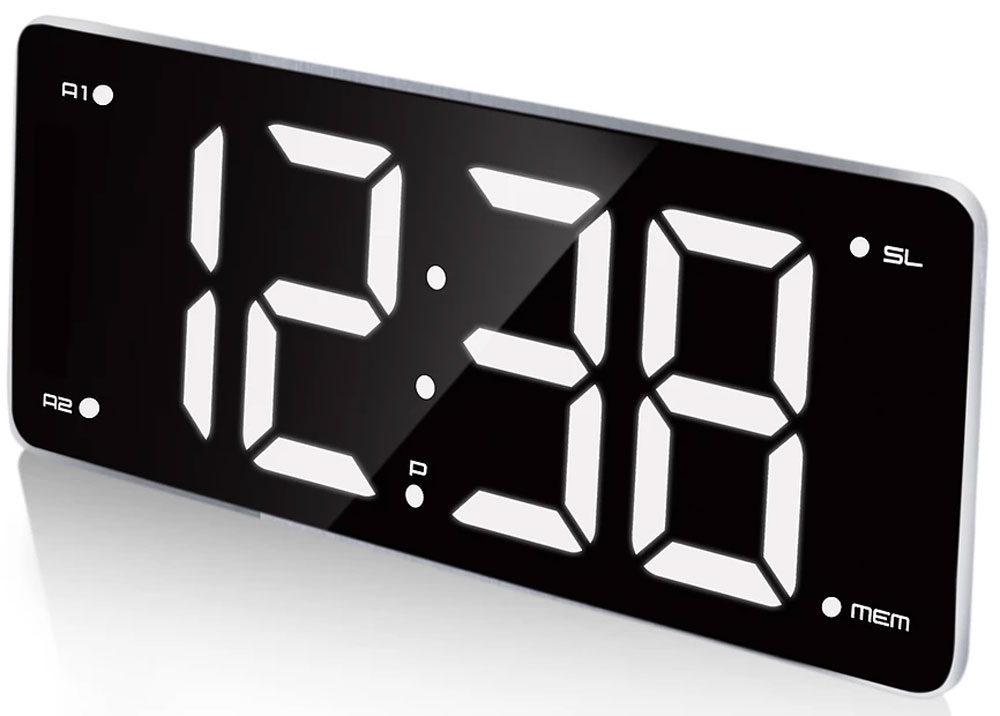 MAX CR-2911, Black White радиобудильник - Радиобудильники и проекционные часы