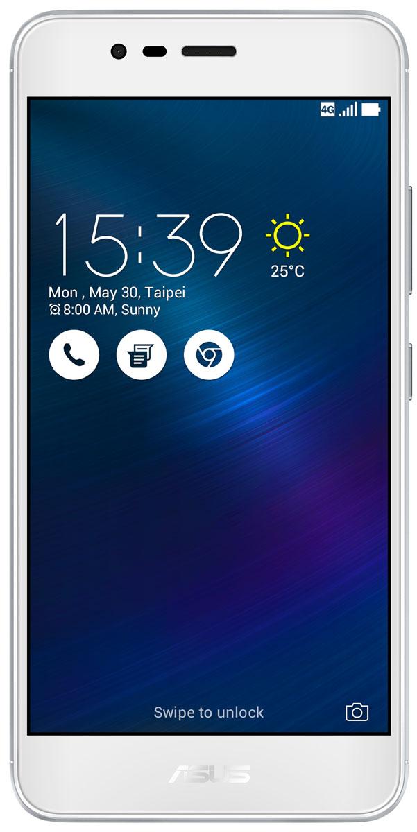 ASUS ZenFone 3 Max ZC520TL, Silver (90AX0087-M00280)90AX0087-M00280Вы живете активной жизнью, а ваш смартфон к середине дня уже разряжен? Тогда вам нужен новый ZenFone 3 Max. Аккумулятор емкостью 4130 мАч позволит пользоваться этим смартфоном с раннего утра до поздней ночи. Работайте продуктивнее, и развлекайтесь ярче - ZenFone 3 Max поможет вам жить еще активнее!С новым 5,2-дюймовым ZenFone 3 Max вам больше не придется беспокоиться о том, что у вас сядет смартфон в самый неподходящий момент. Благодаря большой емкости аккумулятора (4100 мАч), ZenFone 3 Max может работать до 30 дней в режиме ожидания. Чем больше емкость аккумулятора, тем больше пользы от смартфона, ведь каждый хочет получить максимум от своего мобильного устройства, не прибегая к подзарядке: пролистать больше веб-сайтов, просмотреть больше видеороликов и пообщаться с большим числом друзей, чем при использовании обычных смартфонов.Емкости аккумулятора в современном смартфоне никогда не бывает много. Именно поэтому инженеры компании ASUS разработали две специальные энергосберегающие технологии, позволяющие продлить время автономной работы ZenFone 3 Max. Даже если уровень заряда аккумулятора упадет до 10%, вы сможете увеличить время работы смартфона в режиме ожидания на дополнительные 36 часов, просто активировав функцию суперэкономии.ZenFone 3 Max сочетает в себе все самое лучшее: дисплей, покрытый защитным стеклом с закругленными краями, эргономичный корпус с изогнутой задней панелью, стильные цвета. Это шедевр современного дизайна и инновационных технологий, который не захочется выпускать из рук.ZenFone 3 Max оснащается превосходным 5,2-дюймовым IPS-дисплеем с яркостью 400 кд/м2 и широкими углами обзора. Причем благодаря тонкой рамке (2,25 мм) и большой относительной площади (75% от размера передней панели) экран ничуть не влияет на компактность смартфона.Расположенный на задней панели сканер отпечатка пальца служит не только для моментальной разблокировки смартфона, но и поддерживает несколько други