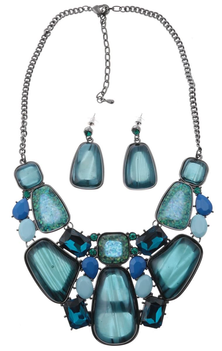 Комплект Сорренто: ожерелье и серьги-пусеты от D.Mari. Ювелирный пластик, разноцветные кристаллы, бижутерный сплав серебряного тона. ГонконгПуссеты (гвоздики)Комплект Сорренто: ожерелье и серьги-пусеты от D.Mari.Ювелирный пластик, разноцветные кристаллы , бижутерный сплав серебряного тона.Гонконг.Размер:Ожерелье - полная длина 37-46 см, размер регулируется за счет застежки-цепочки.Серьги - 4 х 2 см.