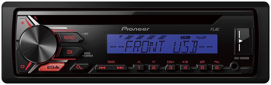 Pioneer DEH-1900UBB автомагнитола1025098Автомобильная магнитола Pioneer DEH-1900UBB позволяет слушать музыку с FM радиостанций, CD-дисков, Android смартфонов, USB-устройств или устройств, подключенных через Aux-вход.Встроенный усилитель MOSFET с выходной мощностью 4 х 50 Вт позволяет воспроизводить музыку в высоком качестве . Для того, чтобы увеличить мощность, можно воспользоваться RCA выходом на тыловой панели устройства для подключения дополнительного сабвуфера или усилителя.