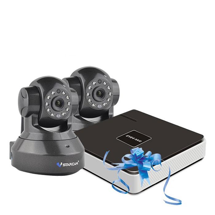 Vstarcam NVR C37 KIT система видеонаблюдения1600000360778Vstarcam NVR C37 KIT - готовый уличный комплект для видеонаблюдения.Две IP-камерыс разрешением 720р, возможностью ночной съемки (до 10 м) и удаленным управлением поворотом (355°/120°) позволят покрыть помещение больших размеров. Также при острой необходимости вы сможете подключить 2 дополнительные камеры Vstarcam, и, тем самым, вывести ваше офисное видеонаблюдение в формат профессиональной системы.Четырехканальный IP видеорегистратор Vstarcam N400 предназначен для записи видео с камер Vstarcam C серии (и других камер по протоколу Onvif и RTSP) в высоком разрешении на жесткий диск (HDD) объемом до 6 ТБ.Регистратор поддерживает все современные возможности доступа к видео в реальном времени и архиву. Например, просмотр локально на подключенном мониторе или по сети Интернет.Нет необходимости использовать статический IP-адрес. Вы экономите на абонентской плате, благодаря уникальной технологии Р2Р.Для просмотре изображения на ПК реализован веб-интерфейс, а для мобильных устройств соответствующее программное обеспечение EYE4, доступное для бесплатного скачивания.