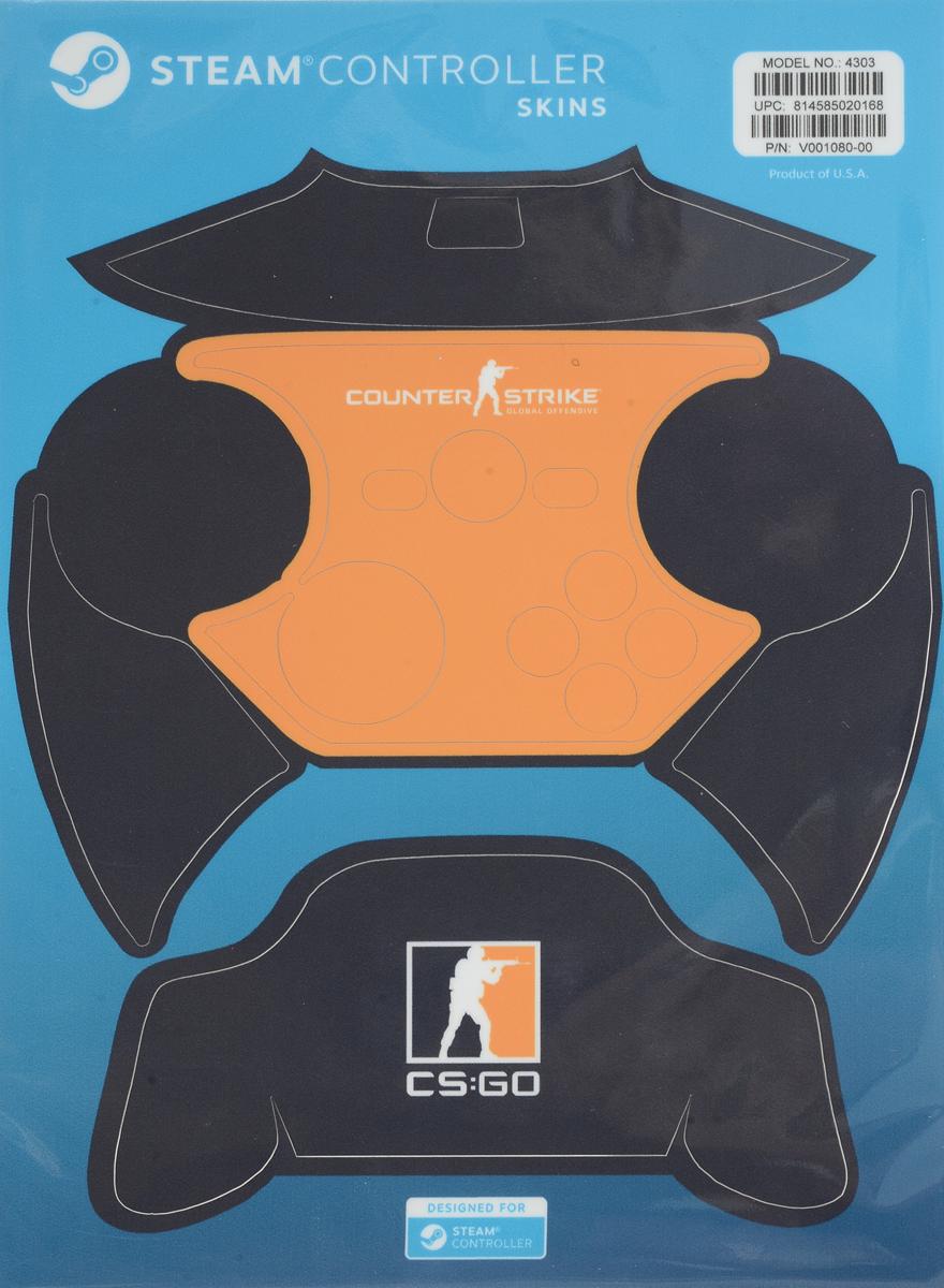 Valve CS:GO, Blue Orange комплект накладок для Steam Controller814585020168Накладки для Steam Controller защитят устройство от повреждений и придадут ему индивидуальность. Их легко наклеить, а также легко удалить, к тому же они отлично подогнаны под размер контроллера.