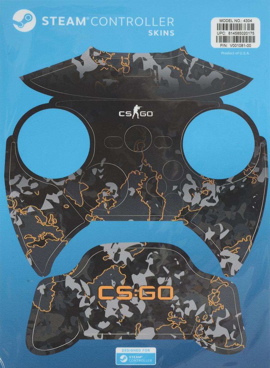 Valve CS:GO, Grey Camo комплект накладок для Steam Controller814585020175Накладки для Steam Controller защитят устройство от повреждений и придадут ему индивидуальность. Их легко наклеить, а также легко удалить, к тому же они отлично подогнаны под размер контроллера.