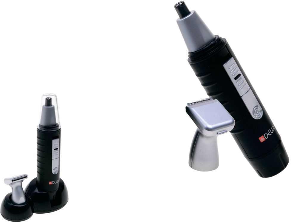 Dewal 03-802, Black машинка для стрижки волос в носу и ушах03-802Dewal 03-802 - это современная стильная машинка для стрижки волос в носу и ушах, с питанием от батарейки АА, имеет 2 ножевых блока.
