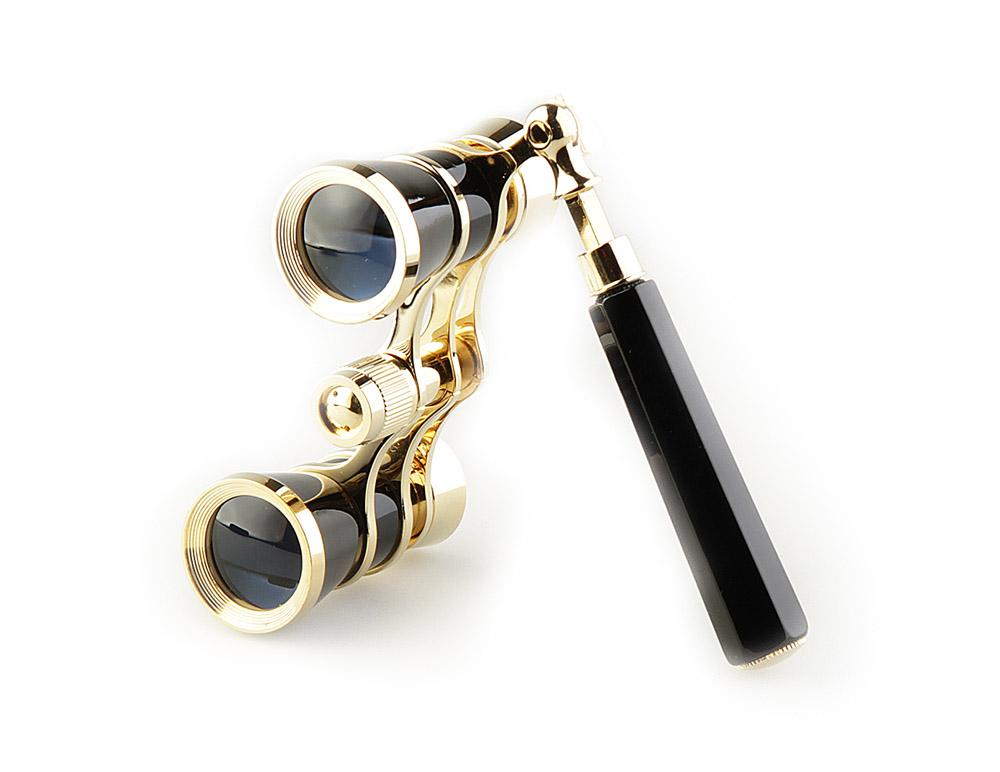 Бинокль Veber Opera, цвет: черный, БГЦ 3x25 E0910988Светосильный, корпус — металл, оптическое стекло с просветлением. Отделка глянцевым черным лаком и напыленным 18-ти каратным золотом. Регулируемое межзрачковое расстояние, фокусировка, лорнет. ОПИСАНИЕ Театральный бинокль Veber Opera БГЦ 3x25 (лорнет) - не только изящный аксессуар, но и незаменимый помощник в наблюдениях театральных, цирковых, эстрадных представлений, верный спутник на экскурсиях.Классическая галилеевская оптическая схема с центральной внутренней фокусировкой, заключенная в черный лакированный корпус с позолоченными (18к) элементами. Трехкратное увеличение и широкое поле зрения позволят вам насладиться представлением даже с галерки.Телескопическая длина ручки 10 - 16 см. ОсобенностиГалилеевская оптическая системаЦентральная внутренняя фокусировка3-х кратное увеличениеКомплектацияБинокльФутляр-мешочекТкань для протирки оптикиРуководство по эксплуатации и гарантийный талонХарактеристикиУвеличение, крат 3Диаметр объектива, мм 25Вес, г 210Цвет черный/золотой