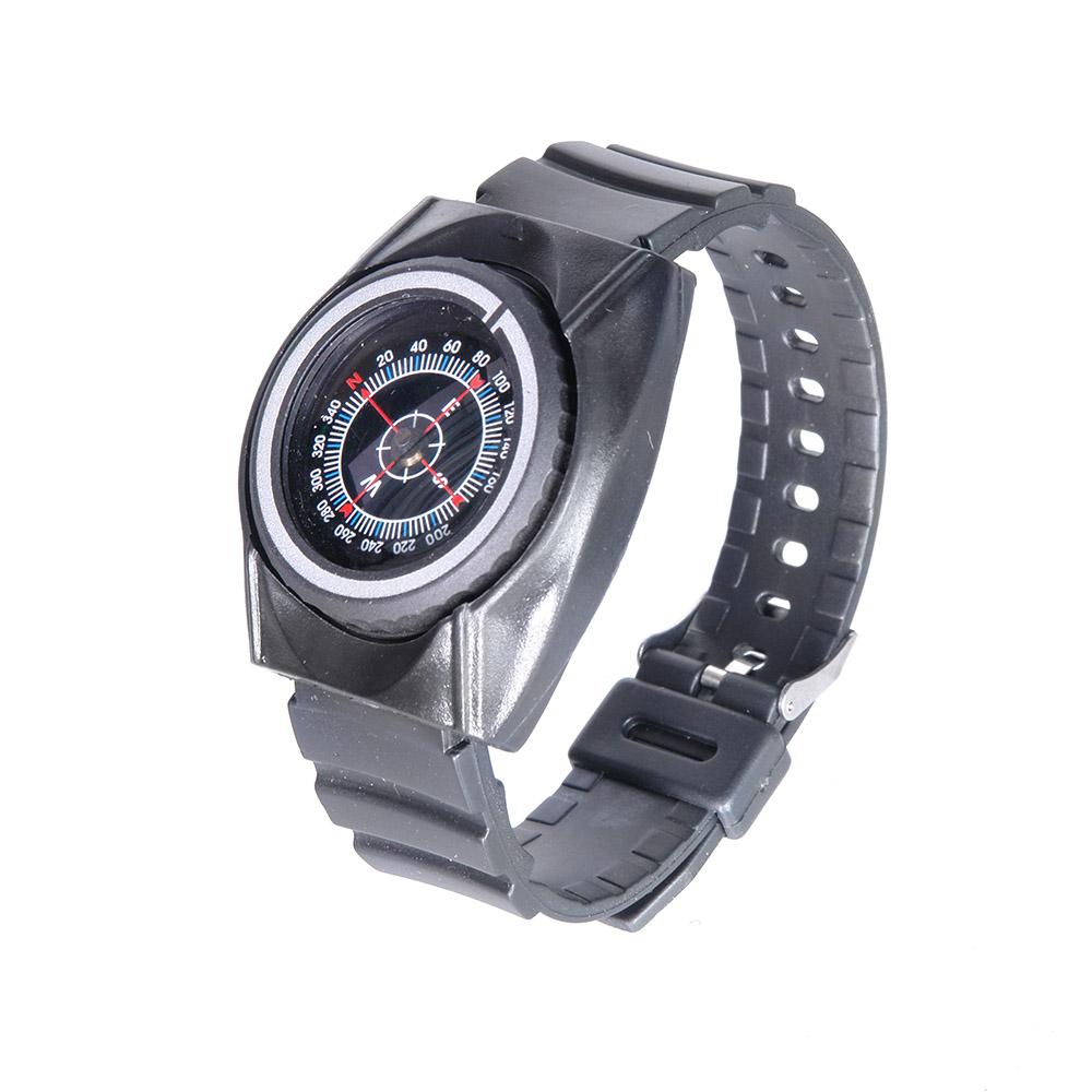 Компас Veber, наручный, цвет: черный, К30311146Туристический компас с ремешком на запястье, выполнен в виде наручных часов. Изготовлен из пластика и резины. Внутри капсулы компаса размещена магнитная стрелка совмещенная с циферблатом.ОПИСАНИЕ Туристический жидкостный компас с ремешком на запястье, выполнен в виде наручных часов. Изготовлен из пластика и резины. Внутри капсулы компаса размещена магнитная стрелка совмещенная с циферблатом. На циферблате имеется шкала градусов с ценой деления 4? и индексы N, E, S, W, (N-север, S-юг, E-восток, W-запад). На отдельном вращающемся основании расположена визирная метка для определения азимута. ХарактеристикиЦена деления шкалы азимута 4? Длительность успокоения магнитной стрелки около 5 с Диапазон рабочих температур от -20?С до +30?С Материал корпуса пластик, резина Габаритные размеры (без ремешка) 49х43х17 мм Вес 30 г