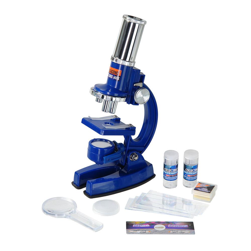 Eastcolight Micro-science MP-600, Blue микроскоп11339Eastcolight Micro-science MP-600 - отличный подарок для ребёнка, желающего погрузиться в увлекательный мир микробиологии. Микроскоп из пластика располагает осветителем с двойным действием – когда он повёрнут зеркалом вверх, освещение происходит путём солнечного света. Один поворот, и вот у вас уже освещение от лампы, встроенной в другую сторону осветителя (батарейки в комплект не входят). Это может быть полезно при пасмурной погоде или при отсутствии достаточного освещения в комнате. В комплекте к микроскопу идёт одно предметное стекло с уже заранее подготовленным препаратом, и целых 12 предметных стёкол для приготовления своих микропрепаратов, с чистыми стикерами для маркировки. Прямо как в настоящей лаборатории!