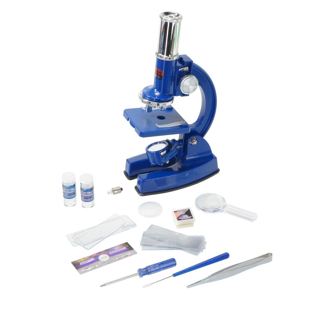 Eastcolight Micro-science MP-900, Blue микроскоп11340Eastcolight Micro-science MP-900 - отличный подарок для ребёнка, желающего погрузиться в увлекательный мир микробиологии. Микроскоп располагает осветителем с двойным действием – когда он повёрнут зеркалом вверх, освещение происходит путём солнечного света. Один поворот, и вот у вас уже освещение от лампы, встроенной в другую сторону осветителя (батарейки в комплект не входят). Это может быть полезно при пасмурной погоде или при отсутствии достаточного освещения в комнате. В комплекте к микроскопу идёт одно предметное стекло с уже заранее подготовленным препаратом, и целых 12 предметных стёкол для приготовления своих микропрепаратов, с чистыми стикерами для маркировки. Прямо как в настоящей лаборатории!