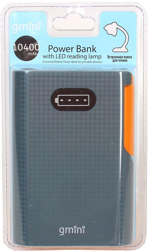 Gmini mPower GM-PB104L внешний аккумулятор (10400 мАч) + встроенная LED-лампаGM-PB104LGmini mPower GM-PB052L - настоящая находка для владельцев смартфонов. Аккумулятор такой маленький и тонкий, что вы просто не почувствуете его в вашем кармане или сумке. Емкости батареи должно хватить на 4 цикла заряда среднестатистического смартфона. По сравнению с обычными литий-ионными, литий-полимерные батареи тоньше, легче и меньше теряют заряд. Наслаждайтесь преимуществами новых технологий!