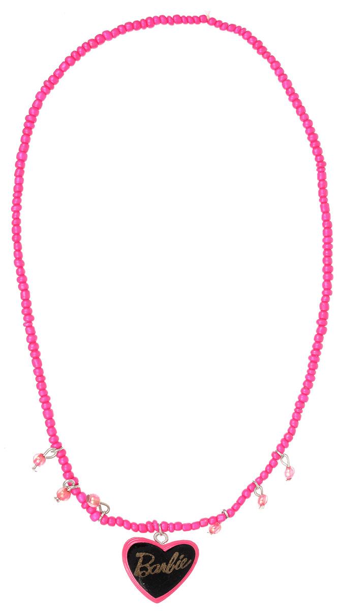 Колье для девочки Barbie, цвет: серебристый, розовый. 09020965Колье (короткие одноярусные бусы)Оригинальное колье Barbie станет изюминкой образа юной леди. Изделие изготовлено из гипоаллергенных материалов, не имеет заостренных деталей и абсолютно безопасно для ребенка. В комплекте идут два колье. Колье выполнены из пластиковых бусин, собранных на эластичной резинке. Одно из изделий декорировано подвеской в виде сердечка с символикой бренда. Рекомендуемый возраст: от 3х лет.