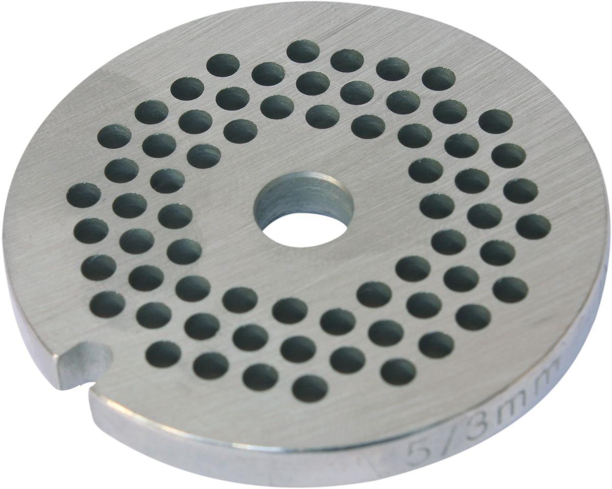 Euro Kitchen EUR-GR-3 Bosch решетка для мясорубкиEUR-GR-3 BoschРешетка Euro Kitchen EUR-GR-3 предназначена для работы с электрическими мясорубками марки Bosch. Она с легкостью заменит фирменную деталь, не уступив ей по качеству и сроку службы. Высокая производительность и долгий срок службы современных электрических и ручных мясорубок зависят, в первую очередь, от режущих механизмов и их выработки. Своевременная профилактика и замена режущих и вспомогательных элементов способствуют уменьшению нагрузки на узлы и другие механизмы, гарантируя долгую и качественную работу вашей мясорубки. Диаметр отверстий в решетке: 3 мм