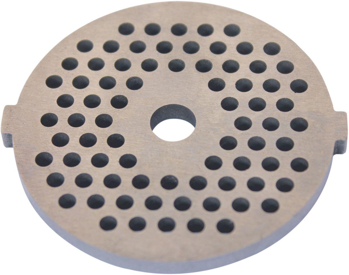 Euro Kitchen EUR-GR-3 UN1 решетка для мясорубкиEUR-GR-3 UN1Универсальная решетка Euro Kitchen EUR-GR-3 UN1 предназначена для работы с электрическими мясорубками. Она с легкостью заменит фирменную деталь, не уступив ей по качеству и сроку службы. Высокая производительность и долгий срок службы современных электрических и ручных мясорубок зависят, в первую очередь, от режущих механизмов и их выработки. Своевременная профилактика и замена режущих и вспомогательных элементов способствуют уменьшению нагрузки на узлы и другие механизмы, гарантируя долгую и качественную работу вашей мясорубки. Диаметр отверстий в решетке: 3 мм