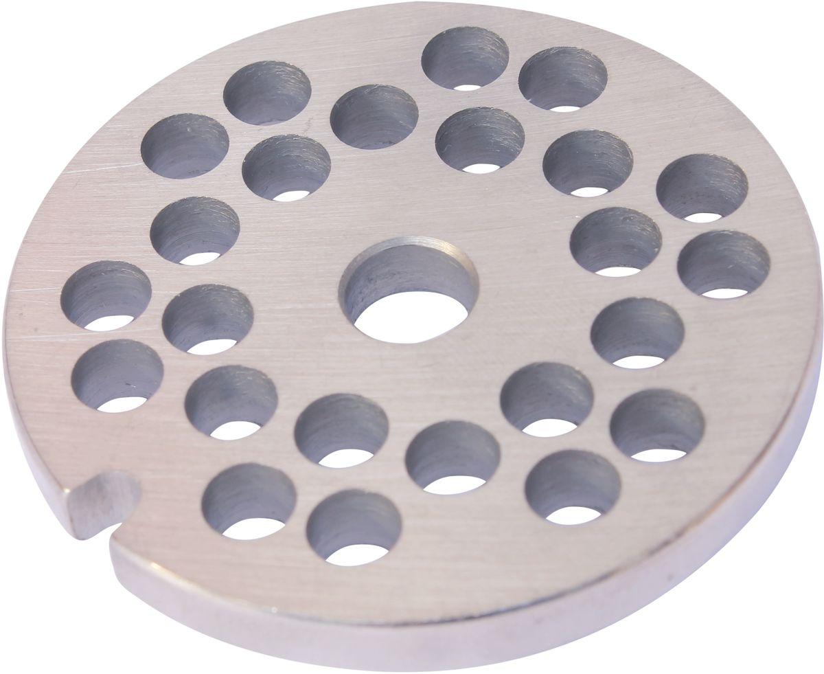 Euro Kitchen EUR-GR-6 Braun решетка для мясорубкиEUR-GR-6 BraunРешетка Euro Kitchen EUR-GR-6 предназначена для работы с электрическими мясорубками марки Braun. Она с легкостью заменит фирменную деталь, не уступив ей по качеству и сроку службы. Высокая производительность и долгий срок службы современных электрических и ручных мясорубок зависят, в первую очередь, от режущих механизмов и их выработки. Своевременная профилактика и замена режущих и вспомогательных элементов способствуют уменьшению нагрузки на узлы и другие механизмы, гарантируя долгую и качественную работу вашей мясорубки. Диаметр отверстий в решетке: 6 мм