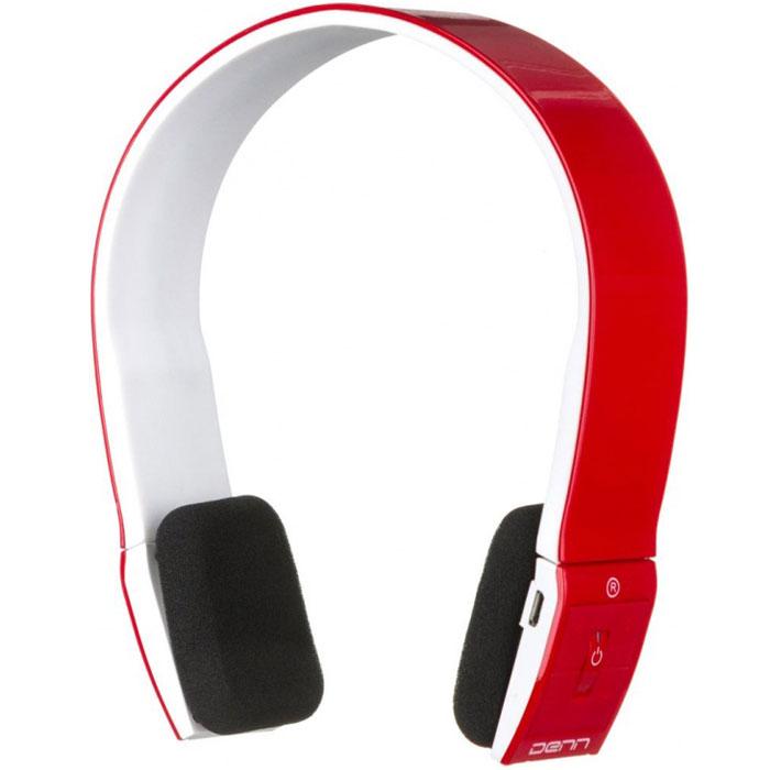 Denn DHB113, Red Bluetooth-гарнитураDHB113Bluetooth-гарнитура Denn DHB113 имеет минималистичный дизайн, благодаря которому она идеально подходит к любому стилю одежды. Динамики гаджета регулируются по высоте в большом диапазоне, что делает его удобным для каждого пользователя.Функциональные клавиши располагаются на динамиках наушников.Оголовье создано из эластичного пластика, поэтому не создается лишнего давления и отсутствует дискомфорт при длительном ношении.
