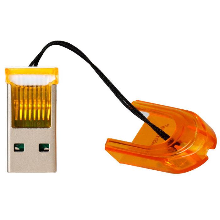 Smartbuy SBR-710-O, Orange картридерSBR-710-OSmartbuy SBR-710 - это устройство для чтения и записи данных на поддерживаемые карты памяти. Картридер дает возможность быстро переносить в память компьютера или записывать на карточку такие объемные данные, как фотографии, музыкальные записи, видеоролики. Данная модель подключается к USB порту и совместно с картой памяти может использоваться как внешнее хранилище. Не требует установки дополнительных драйверов.