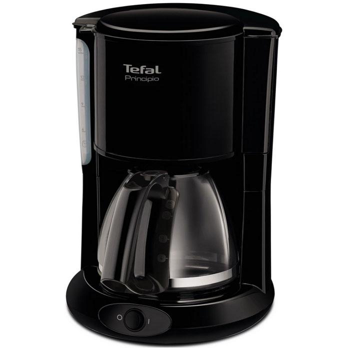 Tefal CM261838 кофеваркаCM261838Если вы любите пить горячий свежесваренный кофе, то вам непременно стоит обратить внимание на современную кофеварку Tefal CM261838. Этот прибор обладает мощностью в 1000 Вт, что позволяет ему в считанные мгновения приготовить превосходный кофе.Наслаждайтесь непревзойденным вкусом своего любимого напитка ежедневно! Простое управление управление капельной кофеваркой Tefal не доставит никаких трудностей. Готовый кофе поступает в специальную емкость, объем которого достигает 1,25 литра. Поэтому кофеварку можно использовать даже в большой семье.Tefal CM261838 отличается невероятной легкостью в обслуживании. Она оснащена специальной противокапельной системой, поэтому рабочая поверхность или скатерть на столе всегда будут чистыми. Кроме того, этот прибор обладает наглядным индикатором уровня воды, что позволяет вам контролировать работу прибора. Благодаря своим компактным размерам и черному цвету корпуса, изготовленного из качественных материалов, этот прибор гармонично дополнит интерьер любой современной кухни. Теперь вы сможете наслаждаться своими любимыми напитками в любое время. Ощутите неповторимый вкус и непревзойденное качество кофе с новой кофеваркой от Tefal!