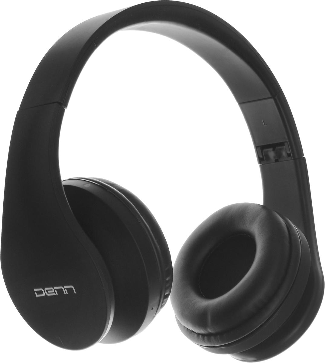 Denn DHB405, Black Bluetooth-гарнитураDHB405Denn DHB405 - полноразмерная Bluetooth-гарнитура с FM радио и МР3-плеером.Динамики наушников оснащены излучателями большого диаметра и мощными магнитами. Они могут воспроизводить без малейших помех звуки любой частоты.