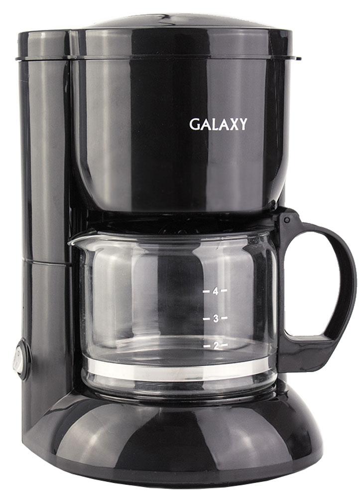Galaxy GL 0707 кофеварка4650067302249С помощью капельной кофеварки Galaxy GL 0707 вы сможете приготовить вкусный натуральный кофе. Кофеварка рассчитана на приготовление 0,6 литра кофе. Световой индикатор позволит отследить работу прибора. Прорезиненные ножки препятствуют скольжению прибора. Кофеварка Galaxy GL 0707 оснащена функцией подогрева и поддержания температуры готового кофе.