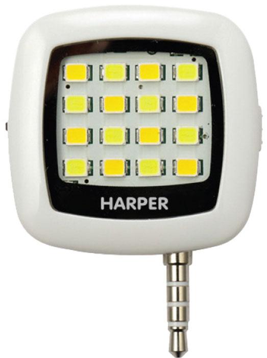 Harper SFL-001, White LED-фонарь для смартфоновH00000543Внешняя светодиодная вспышка для смартфонов и планшетов Harper SFL-001 совместима с любыми портативнымиустройствами, работающими на базе операционных систем Android или iOS. Полезно устройство будет не только владельцам гаджетов, не оснащенных встроенной вспышкой, но и тем, кому недостаточно потока света, создаваемого штатным светодиодом.Для синхронизации работы вспышки с вашим смартфоном (планшетом) необходимо вставить Harper SFL-001 в разъем для наушников 3,5 мм и установить приложение iblazr, которое позволит идеально синхронизировать горение светодиода с моментом съемки фотокамеры. Больше не будет никаких красных глаз на фото! Емкости аккумулятора в 200 мАч хватает почти на 500 снимков.Использовать Harper SFL-001 можно как с основной камерой, так и с фронтальной. Как для фотосъемки, так и для видеосъемки.Работает Harper SFL-001 не только как вспышка, но и как обычный светодиодный фонарь. Благодаря своим компактным размерам (38x38x10 мм без штекера 3,5 мм) HARPER SFL-001 может использоваться как брелок для связки ключей. Фонарь выручит в темных подъездах и на лестничных площадках. Для того чтобы фонарь-вспышка не потерялся, на корпусе есть специальное ушко для крепления шнурка.Управление уровнем яркости, включение и отключение светодиодной панели – ручное.