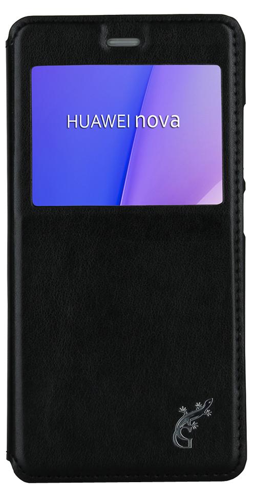 G-Case Slim Premium чехол для Huawei Nova, BlackGG-748Чехол-книжка G-Case Slim Premium для Huawei Nova с квадратным окошком надежно защитит ваш смартфон от пыли, грязи, царапин, оставив при этом свободный доступ ко всем разъемам устройства. Также имеется возможность использования чехла в виде настольной подставки. Чехол G-case Slim Premium - это стильная и элегантная деталь вашего образа, которая всегда обращает на себя внимание среди множества вещей.