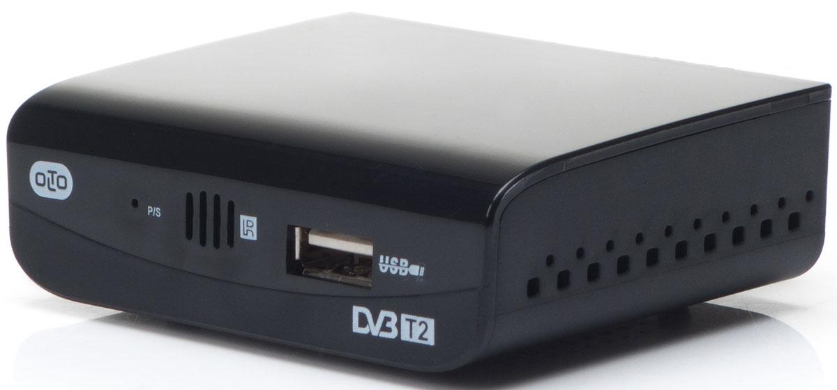 OLTO HDT2-1001, Black ТВ-ресиверO00001102OLTO HDT2-1001 представляет собой цифровой телевизионный ресивер с возможностью приема цифровых каналов по стандартам DVB-T2 и аналоговых каналов в диапазонах VHF (174 - 230 МГц) и UHF (474 - 860 МГц).Поиск и настройка каналов может производиться как автоматически, так и в ручном режиме.Ресивер может подключаться практически к любому телевизору, для этого на задней панели предусмотрены самые популярные аппаратные выходы: антенный разъем, HDMI порт и разъем AV.Помимо трансляции каналов, ресивер OLTO HDT2-1001 может работать с внешними носителями информации. Так, с внешних жестких дисков или USB-Flash накопителей можно воспроизвести музыкальные и видеофайлы, а также фотографии или картинки в популярных форматах.Для ограничения доступа к отдельным каналам можно воспользоваться функцией Родительский контроль.Ресивер OLTO HDT2-1001 поддерживает телетекст и позволяет отобразить программу телепередач.