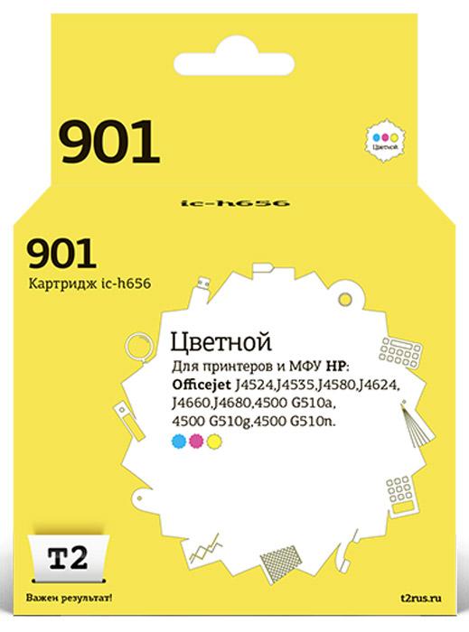 T2 IC-H656 картридж для HP Officejet J4524/J4535/J4580/J4624/J4660/J4680/4500 G510 (№901), цветнойIC-H656Картридж T2 IC-H656 с цветными чернилами для струйных принтеров и МФУ HP. Картридж собран из японских комплектующих и протестирован по стандарту ISO.