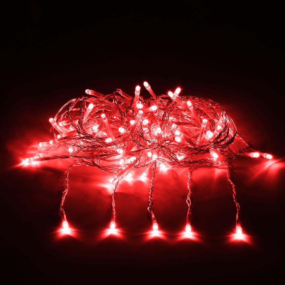 Гирлянда электрическая Vegas Занавес, с контроллером, 156 ламп, длина 1,5 м, свет: красный. 55080 гирлянда электрическая lunten ranta сосулька 20 светодиодов длина 2 85 м
