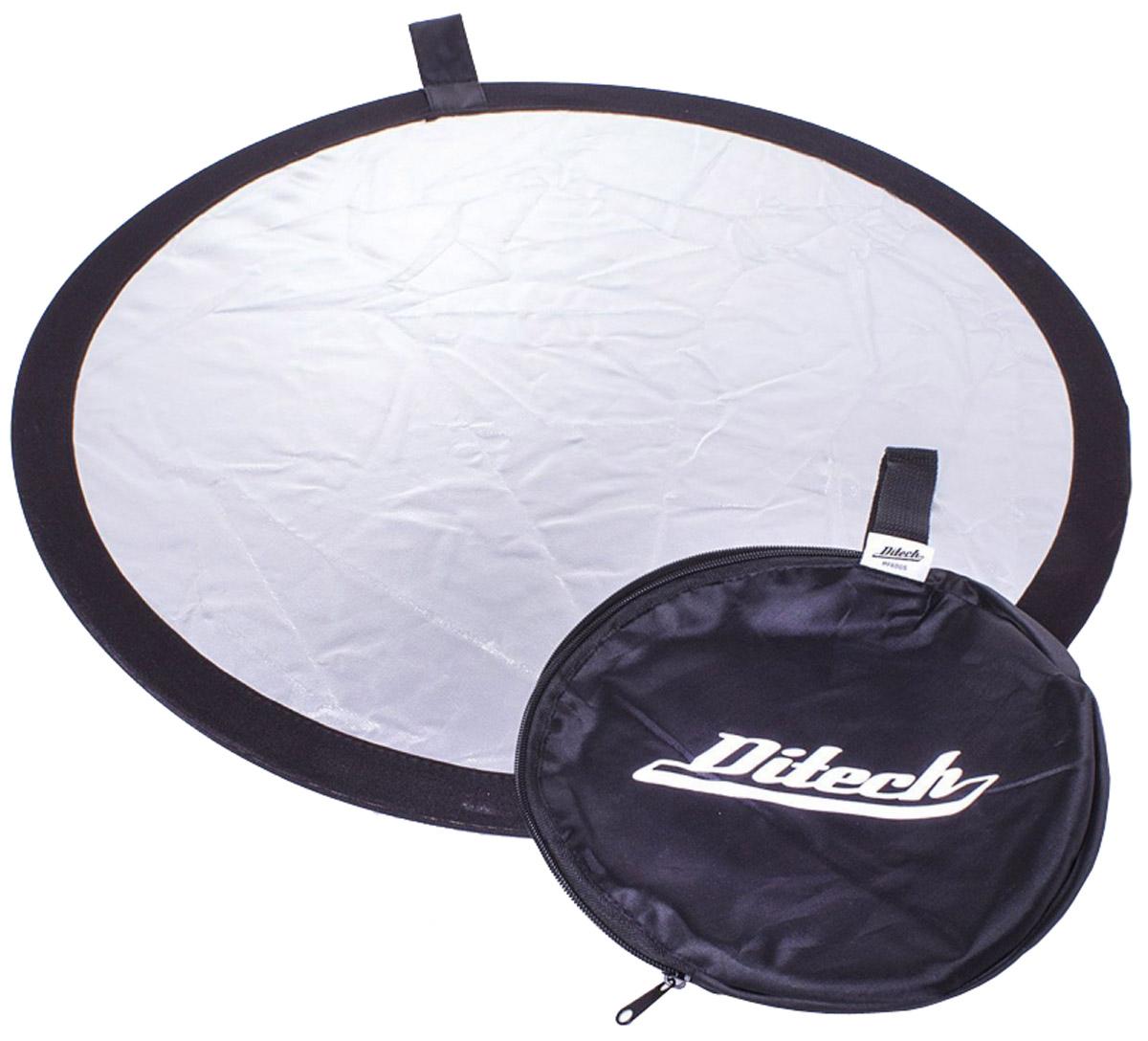 Ditech RF60WS, White Silver отражательRF60WSОтражатель Ditech RF60 предназначен для рассеивания светового потока и создания комфортных условий для снимков. Он станет незаменимым дополнением при съемке с естественным освещением. Используется для студийной или выездной фотосессии.