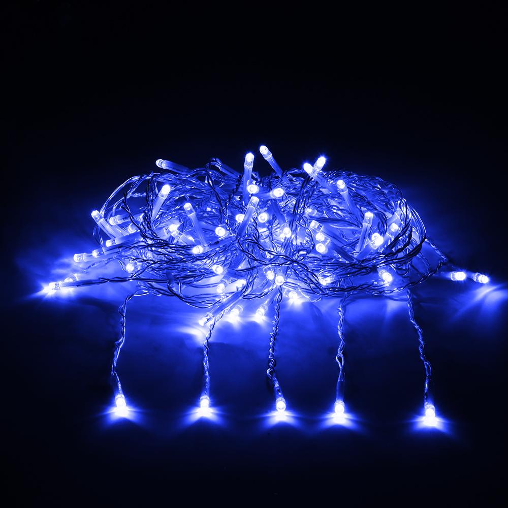 Гирлянда-конструктор электрическая Vegas  Занавес , 192 лампы, 6 нитей, свет: синий, 1 х 4 м - Гирлянды и светильники