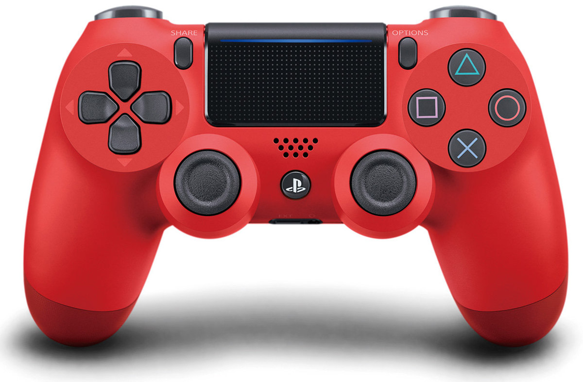 Sony DualShock 4 Cont, Magma Red контроллер для PS4 (CUH-ZCT2E) - Геймпады, джойстики, рули