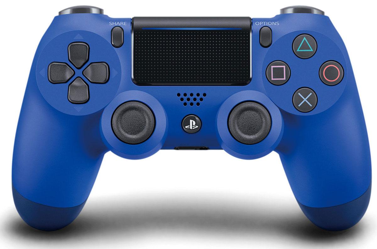 Sony DualShock 4 Cont, Wave Blue контроллер для PS4 (CUH-ZCT2E)CUH-ZCT2EБеспроводной контроллер Sony DualShock 4 оснащен подсветкой тачпада, совпадающей по цвету с подсветкой тыльной стороны контроллера. Это дает геймерам новый источник информации, например, о том, за какого персонажа они играют или о его уровне здоровья. Кроме того, новый DualShock 4 поддерживает возможность подключения через USB в дополнение к уже имеющейся возможности подключения с помощью Bluethooth, что позволяет пользователям осуществлять управление через кабель.Встроенный емкостный тачпад определяет 2 точки касания. Сенсоры движения представлены шестиосевой системой отслеживания движений (трехосевой гироскоп,трехосевой акселерометр).Встроенный моно-динамикРазъемы: microUSB, разъем для наушников, порт расширенияВерсия Bluetooth: v2.1+EDRТачпад: определяет 2 точки касания, отдача кликом, емкостныйКлавиши/ Переключатели: кнопка PS, кнопка SHARE, кнопка OPTIONS, кнопки направления (Вверх/Вниз/Влево/Вправо), кнопки действия (Треугольник, Круг, Крестик, Квадрат), кнопки R1/L1/R2/L2, левый стик / кнопка L3, правый стик / кнопка R3, кнопка тачпада